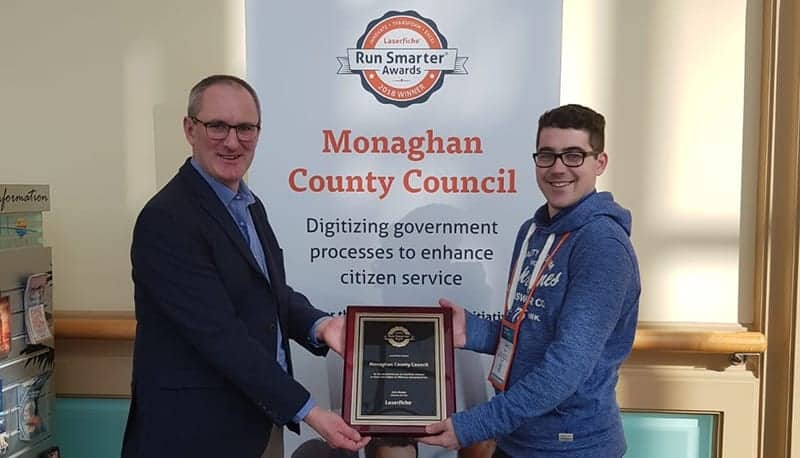 Bizquip Accepts International Laserfiche Award for Monaghan County Council